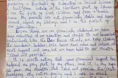 Pismo zahvale jednoga učenika dobročiniteljima